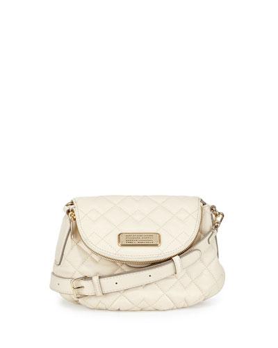 New Q Natasha Quilted Crossbody Bag, Leche