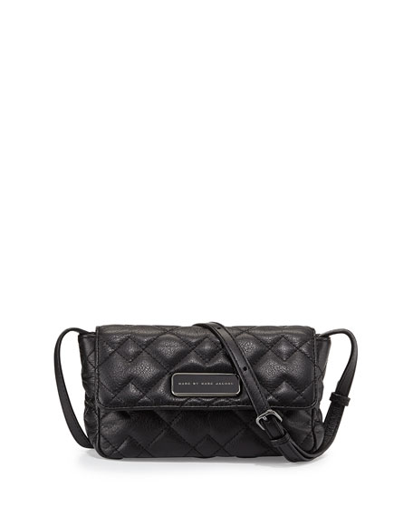 MARC by Marc Jacobs Julie Crosby Quilted Crossbody Bag, Black ... : marc jacobs quilted crossbody bag - Adamdwight.com