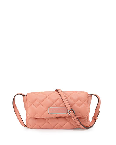 Julie Crosby Quilted Crossbody Bag, Spring Peach