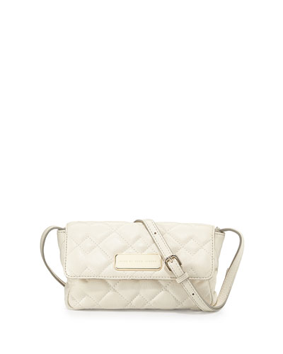 Julie Crosby Quilted Crossbody Bag, Leche