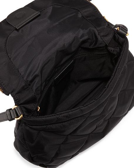 Crosby Quilted Nylon Natasha Crossbody Bag, Black