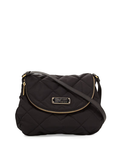 Crosby Quilted Nylon Natasha Crossbody Bag, Black