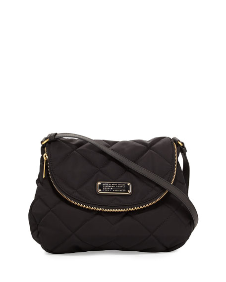 MARC by Marc Jacobs Crosby Quilted Nylon Natasha Crossbody Bag, Black : marc jacobs black quilted bag - Adamdwight.com