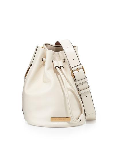 Luna Leather Bucket Bag, Leche Multi