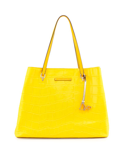 Ready To Go Croc-Embossed Large Tote Bag, Dandelion
