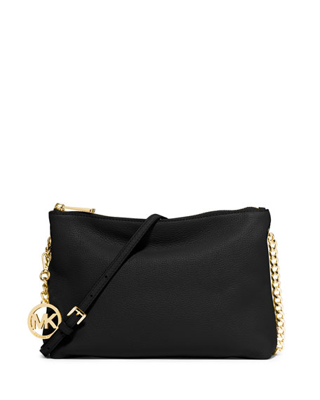 Jet Set Chain Messenger Bag, Black