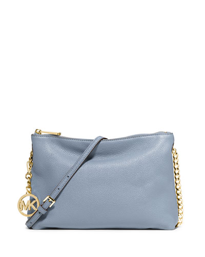 Jet Set Chain Messenger Bag, Pale Blue