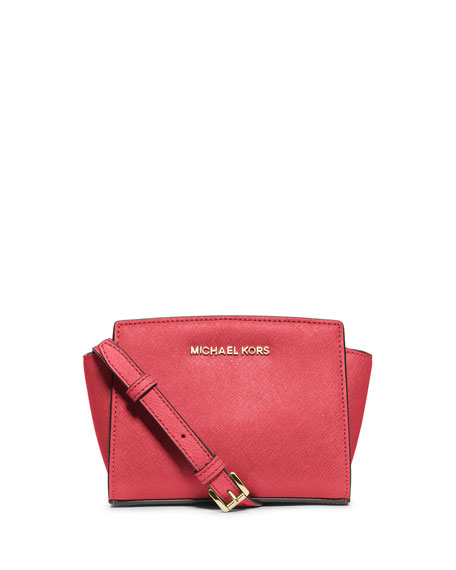 Selma Mini Saffiano Messenger Bag, Watermelon