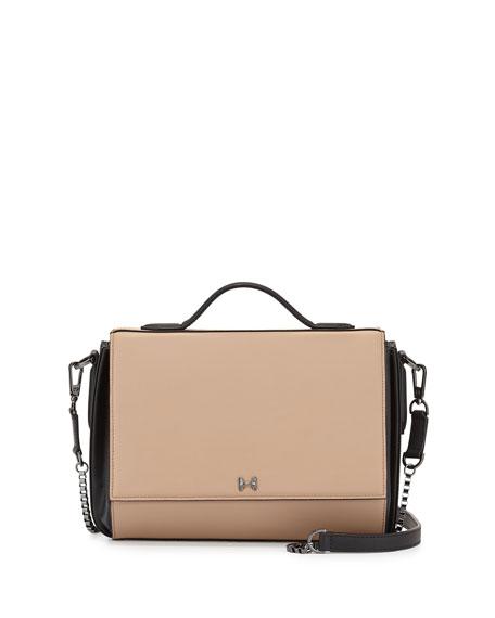 70e3e32ecf Halston Heritage Small Leather Flap Shoulder Bag