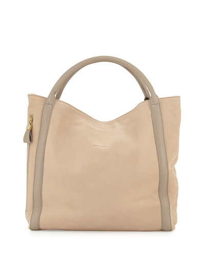 Harriet Porte Epaule Tote Bag, Light Pebble