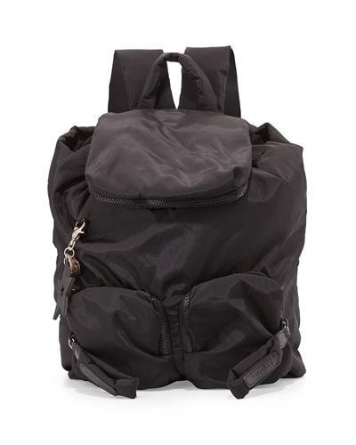 Joy Rider Nylon Backpack, Black