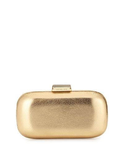 Elsie Dome Evening Clutch Bag, Pale Gold