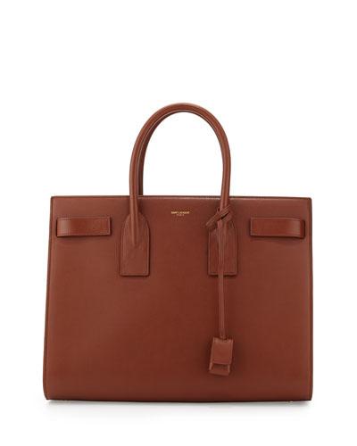 Classic Sac De Jour Leather Tote Bag, Cognac