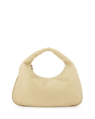 Veneta Large Hobo Bag, Banane Pale Yellow