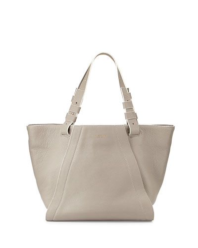Liza Textured Leather Tote Bag, Vapor