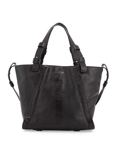 2d07011434 Halston Heritage Liza Python-Embossed Leather Tote Bag
