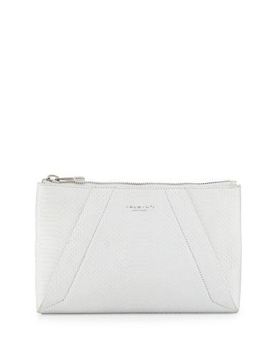 f1a12e3227 Halston Heritage Liza Python-Embossed Clutch Bag