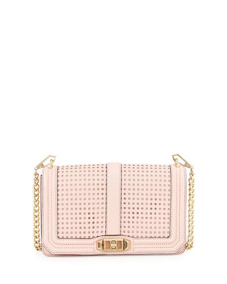 Love Perforated Crossbody Bag, Pink