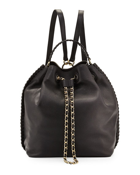 Tory Burch Marion Bucket Backpack, Black