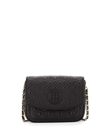 Tory Burch Marion Quilted Mini Shoulder Bag, Black | Neiman Marcus : marion quilted crossbody - Adamdwight.com