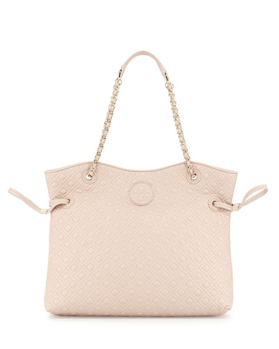 Tory Burch Marion Quilted Slouchy Tote Bag, Light