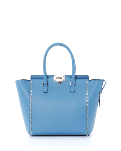 Rockstud Pagoda Shopper Tote Bag, Parrot Blue