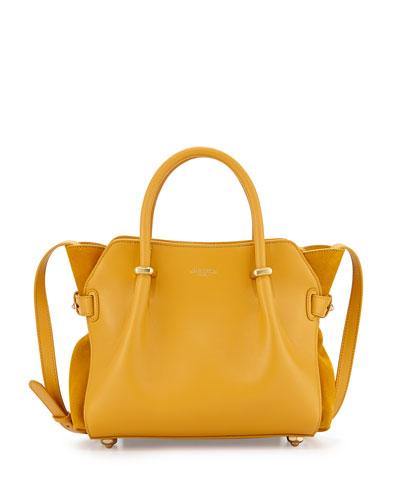 Mini Marche Leather Satchel Bag, Yellow