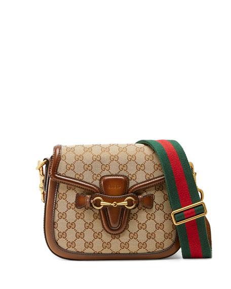 Gucci Lady Web Medium Original GG Canvas Shoulder Bag, Beige