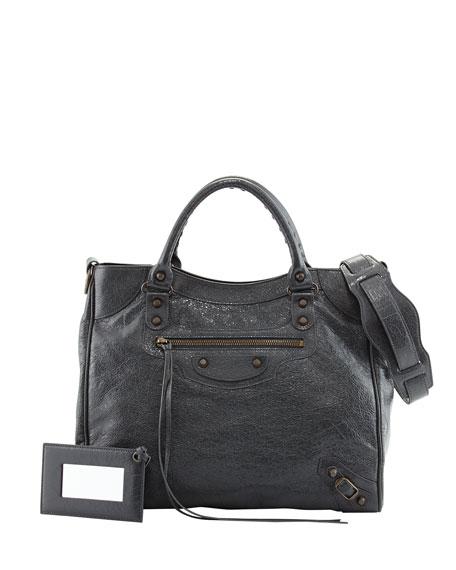 Balenciaga Classic Velo Bag, Dark Gray