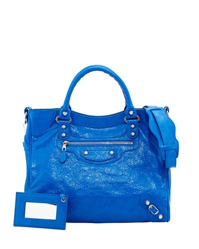 Balenciaga Giant 12 Nickel Velo Bag, Blue