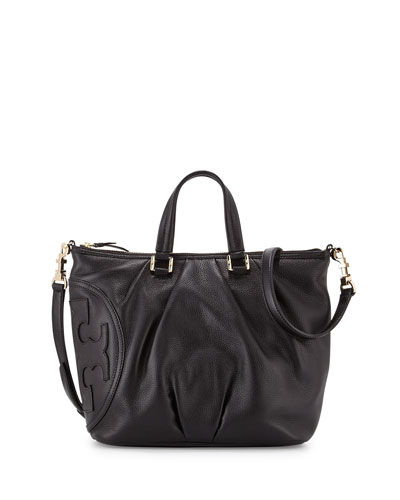 All-T Leather Satchel Bag, Black