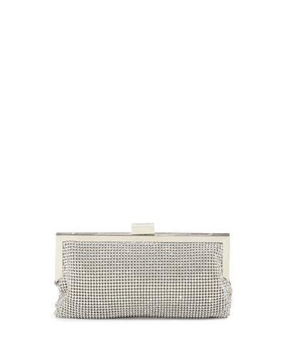 Saffron Crystal Clutch Bag, Silver