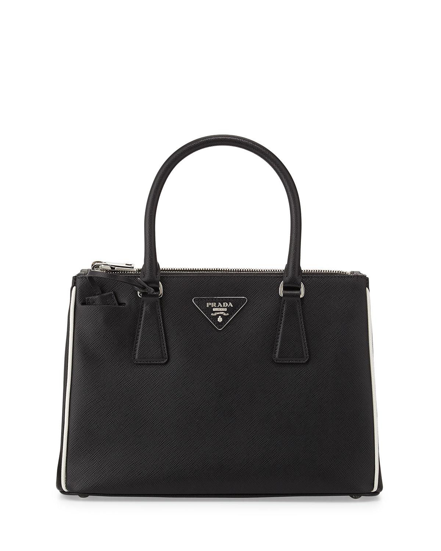 0c0314a98174 Prada Saffiano Lux Double-Zip Tote Bag