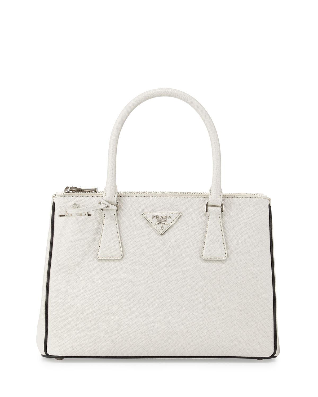 Prada Saffiano Lux Double-Zip Tote Bag bd09167aeb42f