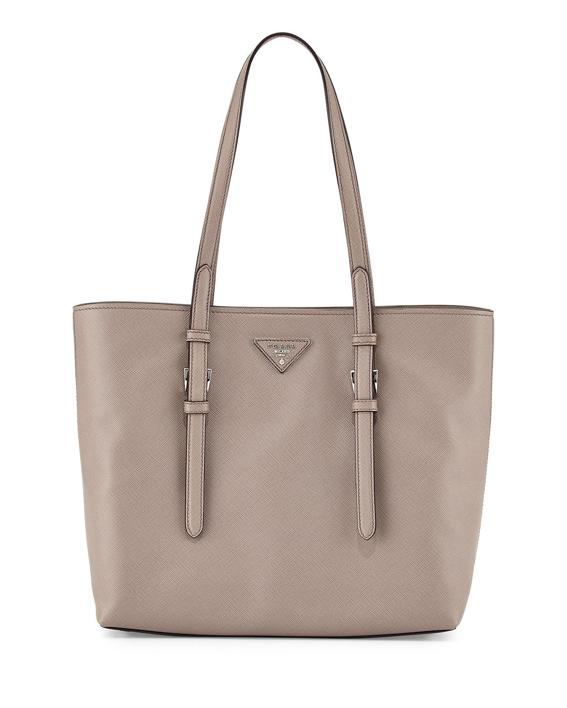 e168dbad4247 Prada Saffiano Soft Tote Bag, Gray (Argilla) | Neiman Marcus