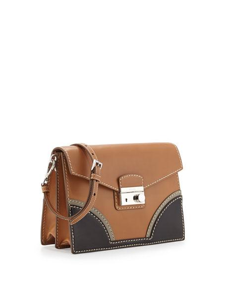 Vachetta Bicolor Shoulder Bag, Natural/Black (Naturale+Nero)