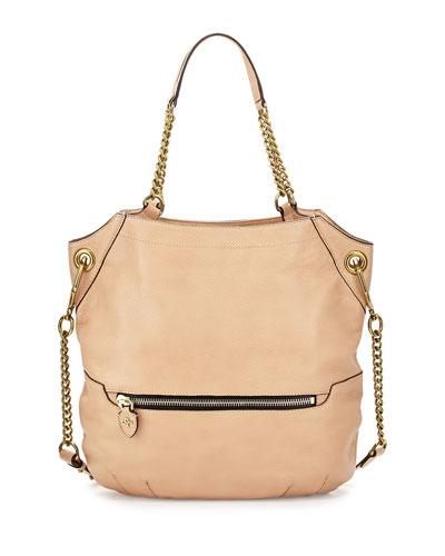 Selina Chain Shoulder Bag, Almond
