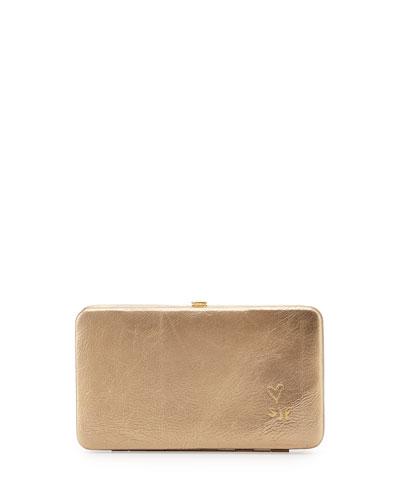 3e38665cb325d7 SJP by Sarah Jessica Parker Astor Metallic Leather Clutch Bag/Wallet, Beige