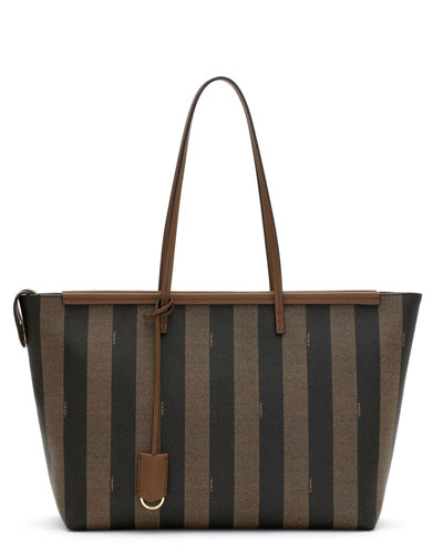 Pequin Large East-West Shoulder Bag, Tobacco Brown