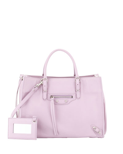 Papier A6 Mini Zip-Around Tote Bag, Rose Orchid