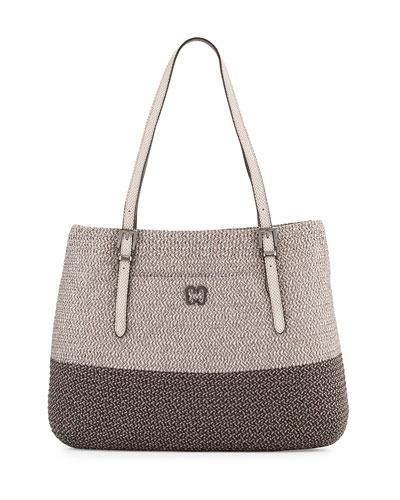 Squishee Jav II Metallic Tote Bag, Ash