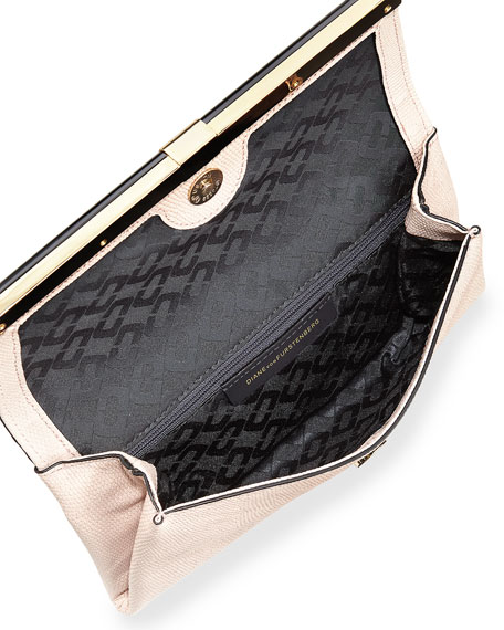 440 Shimmer Envelope Clutch Bag, Pink Dust