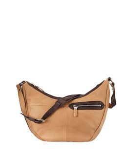 Emmy Pebbled Leather Hobo Bag