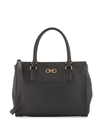 Beky Large Saffiano Tote Bag, Nero