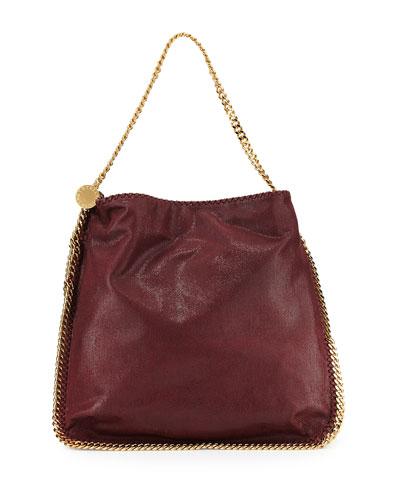 Faux-Leather Hobo Bag, Burgundy