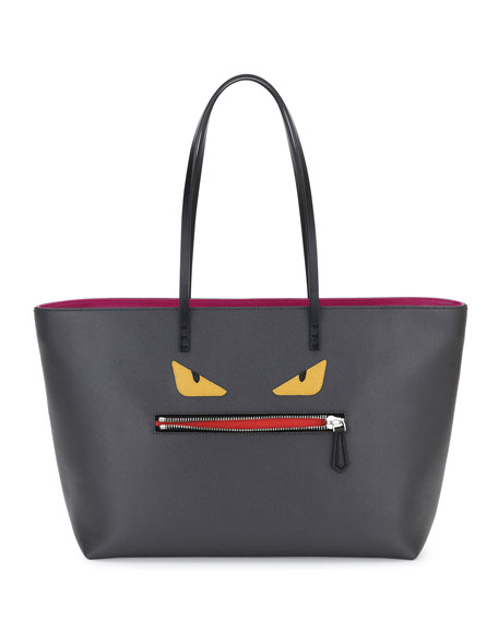 Fendi Monster Tote Bag, Gray