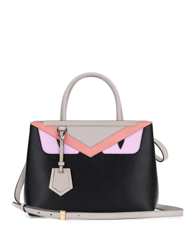 3612729e707c Fendi Petite 2Jours Monster Tote Bag