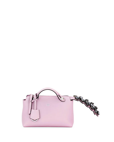 By The Way Mini Crystal-Croc-Tail Satchel Bag, Lavender