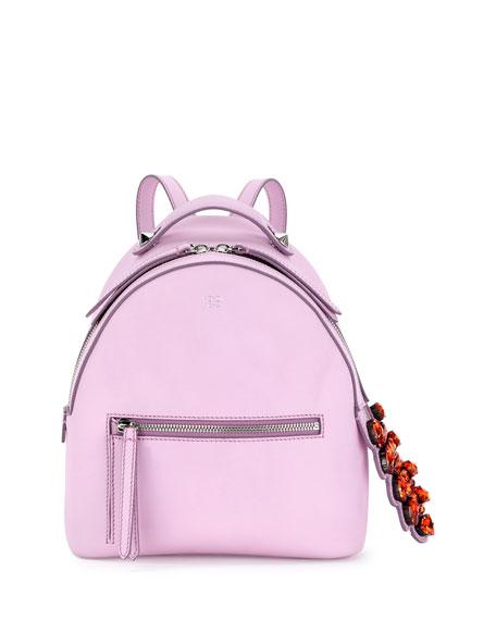 Fendi Mini Crystal-Croc-Tail Backpack, Light Pink