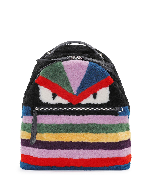 a878c9956038 Fendi Monster Shearling Fur Backpack